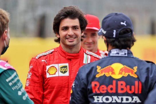 Carlos Sainz Jr (ESP) Ferrari - 2022 Car Launch. 15.07.2021. Formula 1 World Championship, Rd 10, British Grand Prix, Silverstone, England, Preparation Day. - www.xpbimages.com, EMail: requests@xpbimages.com © Copyright: Batchelor / XPB Images