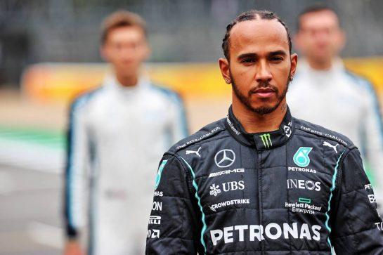 Lewis Hamilton (GBR) Mercedes AMG F1 - 2022 Car Launch. 15.07.2021. Formula 1 World Championship, Rd 10, British Grand Prix, Silverstone, England, Preparation Day. - www.xpbimages.com, EMail: requests@xpbimages.com © Copyright: Batchelor / XPB Images