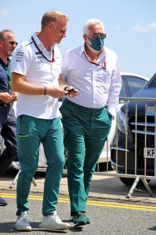 Lawrence Stroll (CDN) Aston Martin F1 Team Investor (Right). 16.07.2021. Formula 1 World Championship, Rd 10, British Grand Prix, Silverstone, England, Practice Day.  - www.xpbimages.com, EMail: requests@xpbimages.com © Copyright: Davenport / XPB Images
