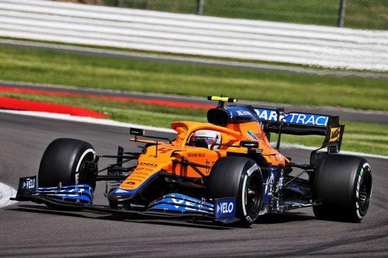 Lando Norris (GBR) McLaren MCL35M. 16.07.2021. Formula 1 World Championship, Rd 10, British Grand Prix, Silverstone, England, Practice Day. - www.xpbimages.com, EMail: requests@xpbimages.com © Copyright: Batchelor / XPB Images