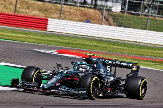 Sebastian Vettel (GER) Aston Martin F1 Team AMR21. 16.07.2021. Formula 1 World Championship, Rd 10, British Grand Prix, Silverstone, England, Practice Day. - www.xpbimages.com, EMail: requests@xpbimages.com © Copyright: Batchelor / XPB Images