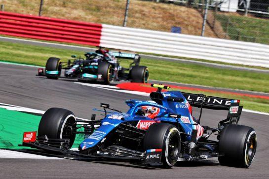 Esteban Ocon (FRA) Alpine F1 Team A521. 16.07.2021. Formula 1 World Championship, Rd 10, British Grand Prix, Silverstone, England, Practice Day. - www.xpbimages.com, EMail: requests@xpbimages.com © Copyright: Batchelor / XPB Images
