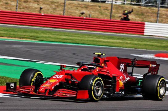 Carlos Sainz Jr (ESP) Ferrari SF-21. 16.07.2021. Formula 1 World Championship, Rd 10, British Grand Prix, Silverstone, England, Practice Day. - www.xpbimages.com, EMail: requests@xpbimages.com © Copyright: Batchelor / XPB Images