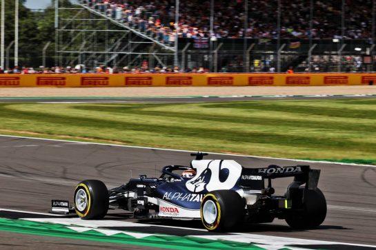 Yuki Tsunoda (JPN) AlphaTauri AT02. 16.07.2021. Formula 1 World Championship, Rd 10, British Grand Prix, Silverstone, England, Practice Day. - www.xpbimages.com, EMail: requests@xpbimages.com © Copyright: Batchelor / XPB Images