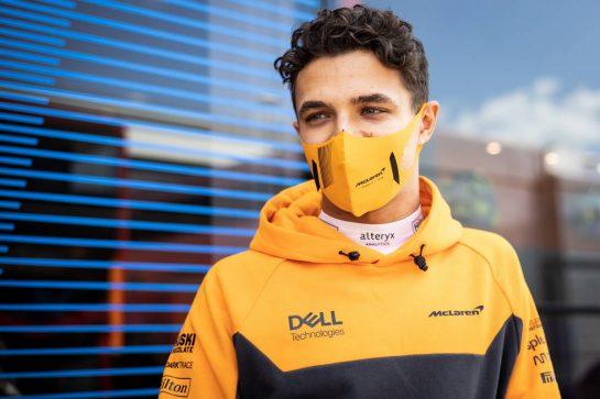Lando Norris (GBR) McLaren. 16.07.2021. Formula 1 World Championship, Rd 10, British Grand Prix, Silverstone, England, Practice Day. - www.xpbimages.com, EMail: requests@xpbimages.com © Copyright: Bearne / XPB Images