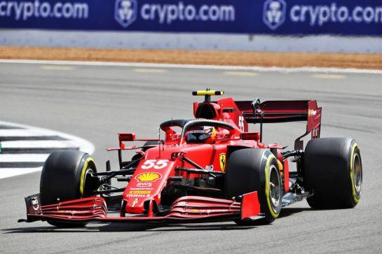 Carlos Sainz Jr (ESP) Ferrari SF-21. 16.07.2021. Formula 1 World Championship, Rd 10, British Grand Prix, Silverstone, England, Practice Day.  - www.xpbimages.com, EMail: requests@xpbimages.com © Copyright: Davenport / XPB Images