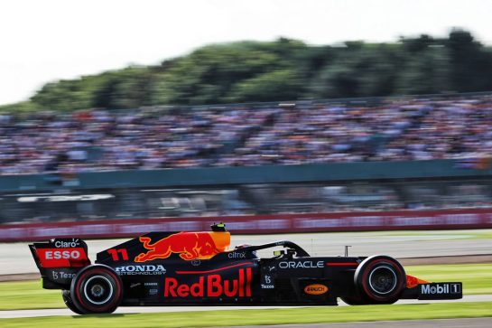 Sergio Perez (MEX) Red Bull Racing RB16B. 16.07.2021. Formula 1 World Championship, Rd 10, British Grand Prix, Silverstone, England, Practice Day. - www.xpbimages.com, EMail: requests@xpbimages.com © Copyright: Batchelor / XPB Images