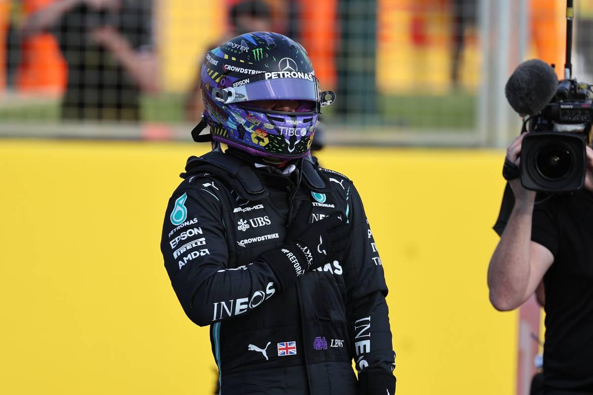 Fastest in Qualifying, Lewis Hamilton (GBR) Mercedes AMG F1 W12. 16.07.2021. Formula 1 World Championship, Rd 10, British Grand Prix, Silverstone