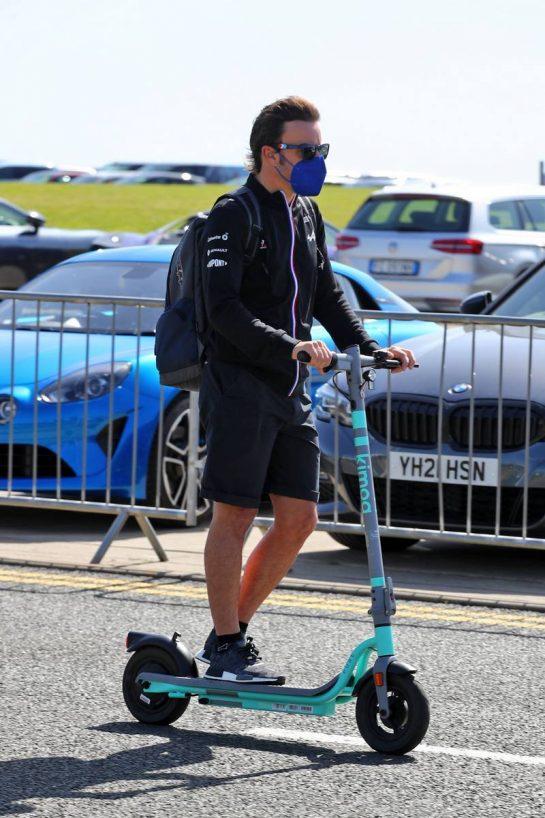 Fernando Alonso (ESP) Alpine F1 Team. 17.07.2021. Formula 1 World Championship, Rd 10, British Grand Prix, Silverstone, England, Qualifying Day.  - www.xpbimages.com, EMail: requests@xpbimages.com © Copyright: Davenport / XPB Images