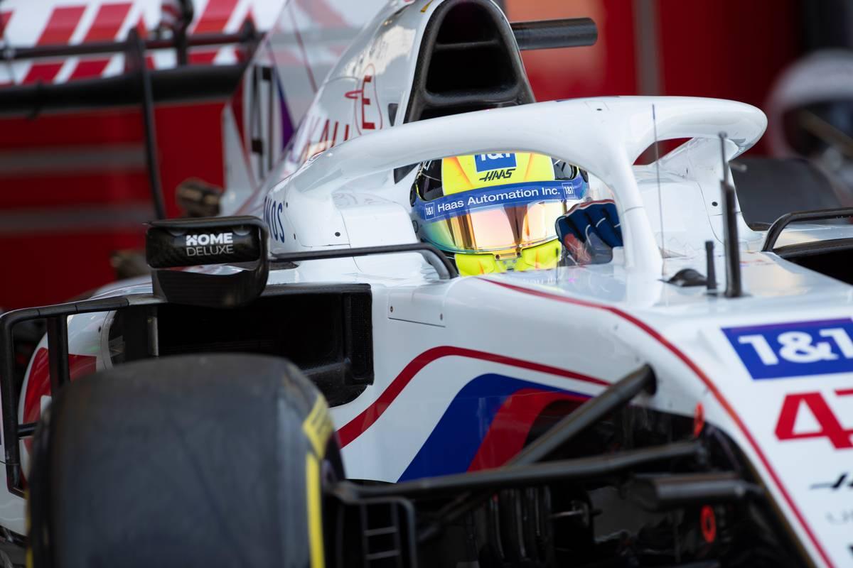 Mick Schumacher (GER) Haas VF-21 leaves the pits. 17.07.2021. Formula 1 World Championship, Rd 10, British Grand Prix, Silverstone