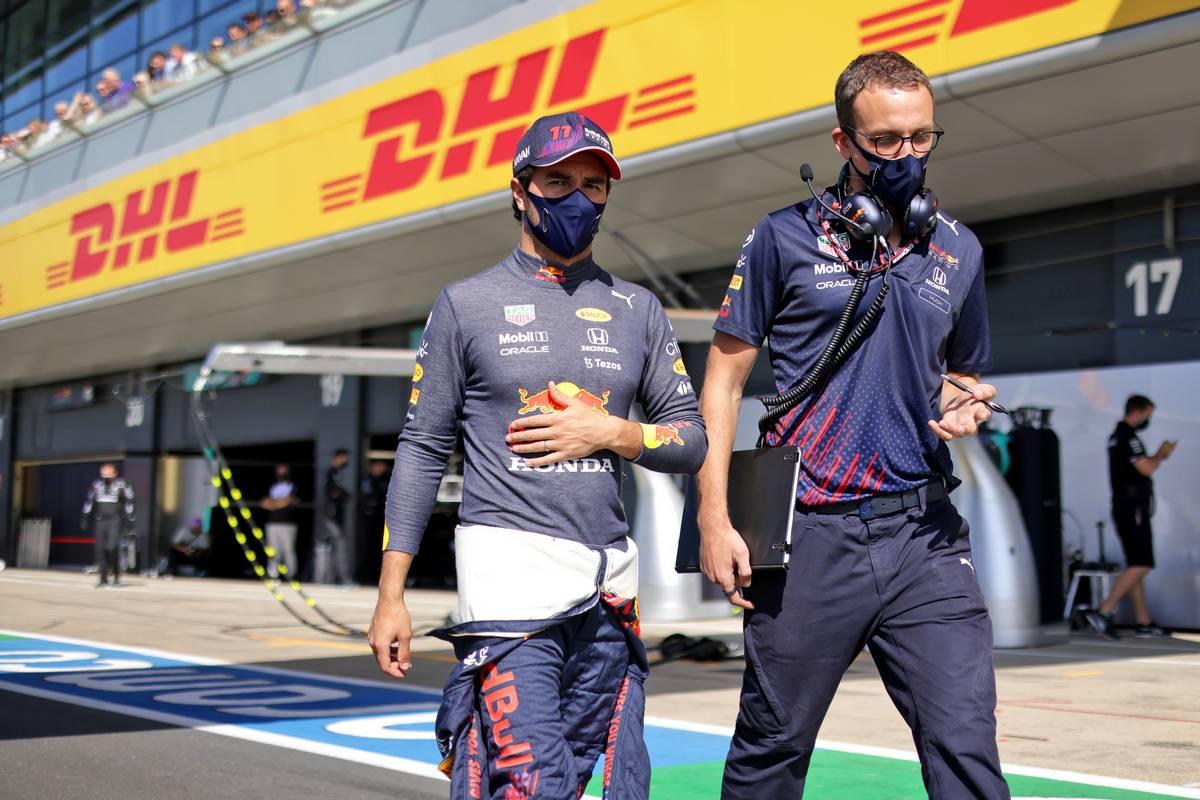 Sergio Perez (MEX) Red Bull Racing on the grid. 17.07.2021. Formula 1 World Championship, Rd 10, British Grand Prix, Silverstone