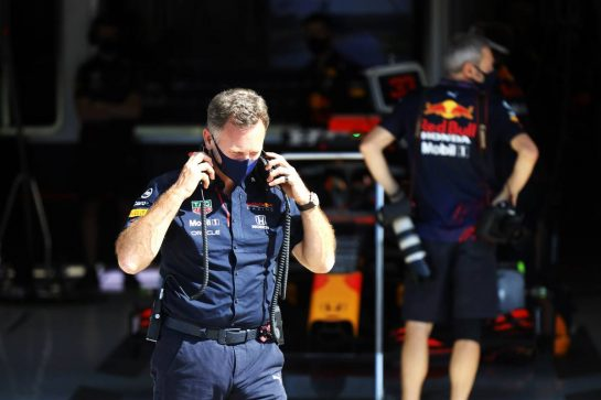 Christian Horner (GBR) Red Bull Racing Team Principal. 17.07.2021. Formula 1 World Championship, Rd 10, British Grand Prix, Silverstone, England, Qualifying Day. - www.xpbimages.com, EMail: requests@xpbimages.com © Copyright: Bearne / XPB Images