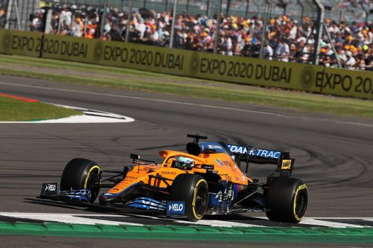 Lando Norris (GBR) McLaren MCL35M.17.07.2021. Formula 1 World Championship, Rd 10, British Grand Prix, Silverstone, England, Qualifying Day.- www.xpbimages.com, EMail: requests@xpbimages.com © Copyright: Batchelor / XPB Images