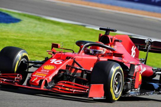 Charles Leclerc (MON) Ferrari SF-21. 17.07.2021. Formula 1 World Championship, Rd 10, British Grand Prix, Silverstone, England, Qualifying Day.  - www.xpbimages.com, EMail: requests@xpbimages.com © Copyright: Davenport / XPB Images