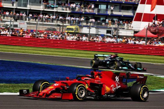 Charles Leclerc (MON) Ferrari SF-21. 18.07.2021. Formula 1 World Championship, Rd 10, British Grand Prix, Silverstone, England, Race Day. - www.xpbimages.com, EMail: requests@xpbimages.com © Copyright: Batchelor / XPB Images