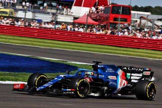 Fernando Alonso (ESP) Alpine F1 Team A521. 18.07.2021. Formula 1 World Championship, Rd 10, British Grand Prix, Silverstone, England, Race Day. - www.xpbimages.com, EMail: requests@xpbimages.com © Copyright: Batchelor / XPB Images