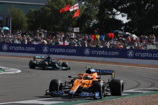 Lando Norris (GBR) McLaren MCL35M.18.07.2021. Formula 1 World Championship, Rd 10, British Grand Prix, Silverstone, England, Race Day.- www.xpbimages.com, EMail: requests@xpbimages.com © Copyright: Batchelor / XPB Images