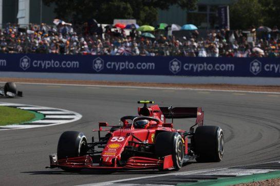 Carlos Sainz Jr (ESP) Ferrari SF-21.18.07.2021. Formula 1 World Championship, Rd 10, British Grand Prix, Silverstone, England, Race Day.- www.xpbimages.com, EMail: requests@xpbimages.com © Copyright: Batchelor / XPB Images