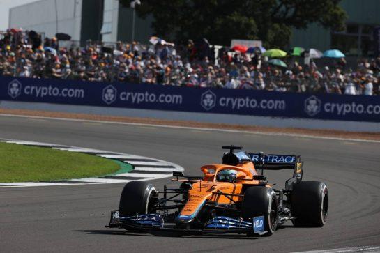 Daniel Ricciardo (AUS) McLaren MCL35M.18.07.2021. Formula 1 World Championship, Rd 10, British Grand Prix, Silverstone, England, Race Day.- www.xpbimages.com, EMail: requests@xpbimages.com © Copyright: Batchelor / XPB Images