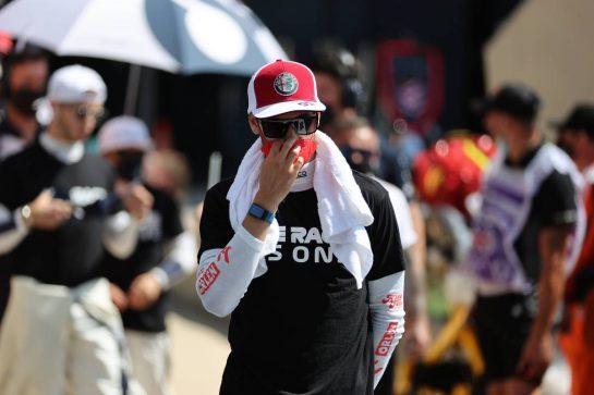 Antonio Giovinazzi (ITA) Alfa Romeo Racing C41.18.07.2021. Formula 1 World Championship, Rd 10, British Grand Prix, Silverstone, England, Race Day.- www.xpbimages.com, EMail: requests@xpbimages.com © Copyright: Batchelor / XPB Images