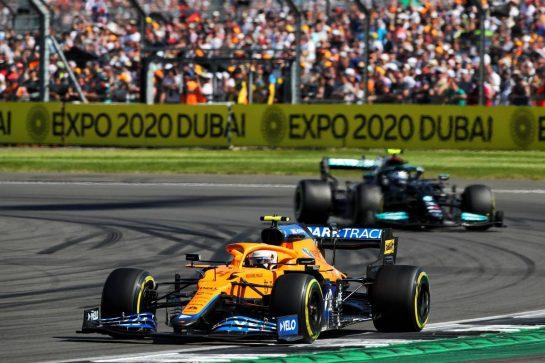 Lando Norris (GBR) McLaren MCL35M. 18.07.2021. Formula 1 World Championship, Rd 10, British Grand Prix, Silverstone, England, Race Day.  - www.xpbimages.com, EMail: requests@xpbimages.com © Copyright: Davenport / XPB Images