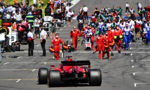 Charles Leclerc (MON) Ferrari SF-21 on the grid. 18.07.2021. Formula 1 World Championship, Rd 10, British Grand Prix, Silverstone