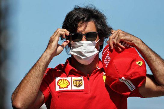 Carlos Sainz Jr (ESP) Ferrari. 29.07.2021. Formula 1 World Championship, Rd 11, Hungarian Grand Prix, Budapest, Hungary, Preparation Day. - www.xpbimages.com, EMail: requests@xpbimages.com © Copyright: Moy / XPB Images