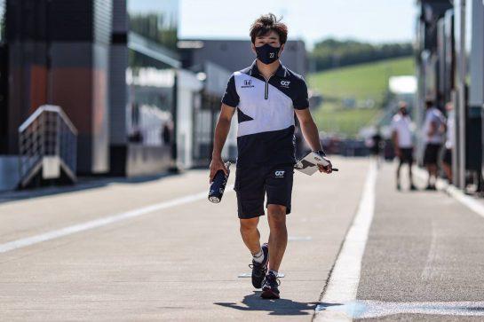 Yuki Tsunoda (JPN) AlphaTauri. 29.07.2021. Formula 1 World Championship, Rd 11, Hungarian Grand Prix, Budapest, Hungary, Preparation Day. - www.xpbimages.com, EMail: requests@xpbimages.com © Copyright: Charniaux / XPB Images