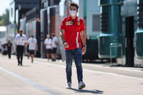 Charles Leclerc (MON) Ferrari. 29.07.2021. Formula 1 World Championship, Rd 11, Hungarian Grand Prix, Budapest, Hungary, Preparation Day. - www.xpbimages.com, EMail: requests@xpbimages.com © Copyright: Charniaux / XPB Images