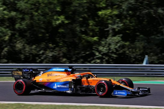 Daniel Ricciardo (AUS) McLaren MCL35M. 30.07.2021. Formula 1 World Championship, Rd 11, Hungarian Grand Prix, Budapest, Hungary, Practice Day. - www.xpbimages.com, EMail: requests@xpbimages.com © Copyright: Batchelor / XPB Images
