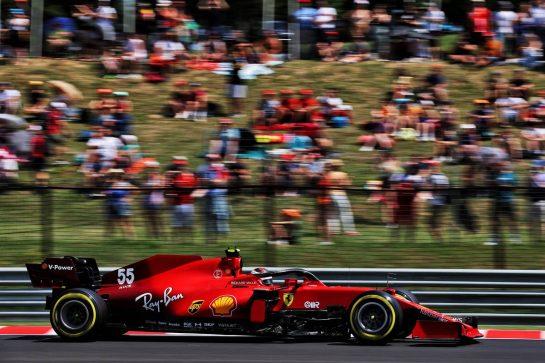 Carlos Sainz Jr (ESP) Ferrari SF-21. 31.07.2021. Formula 1 World Championship, Rd 11, Hungarian Grand Prix, Budapest, Hungary, Qualifying Day. - www.xpbimages.com, EMail: requests@xpbimages.com © Copyright: Batchelor / XPB Images