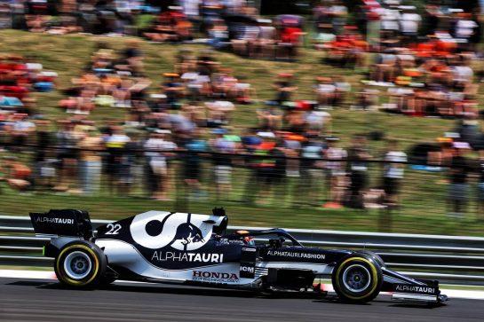 Yuki Tsunoda (JPN) AlphaTauri AT02. 31.07.2021. Formula 1 World Championship, Rd 11, Hungarian Grand Prix, Budapest, Hungary, Qualifying Day. - www.xpbimages.com, EMail: requests@xpbimages.com © Copyright: Batchelor / XPB Images