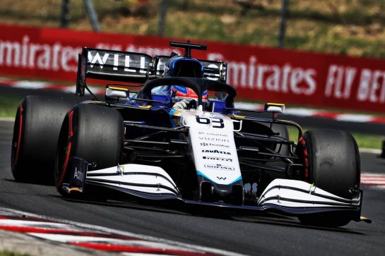 George Russell (GBR) Williams Racing FW43B. 31.07.2021. Formula 1 World Championship, Rd 11, Hungarian Grand Prix, Budapest, Hungary, Qualifying Day. - www.xpbimages.com, EMail: requests@xpbimages.com © Copyright: Moy / XPB Images