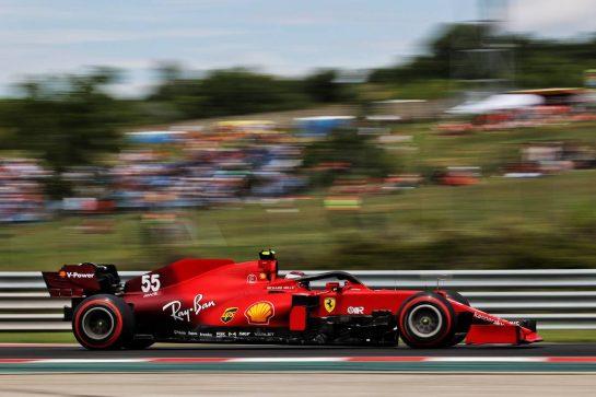 Carlos Sainz Jr (ESP) Ferrari SF-21. 31.07.2021. Formula 1 World Championship, Rd 11, Hungarian Grand Prix, Budapest, Hungary, Qualifying Day. - www.xpbimages.com, EMail: requests@xpbimages.com © Copyright: Moy / XPB Images