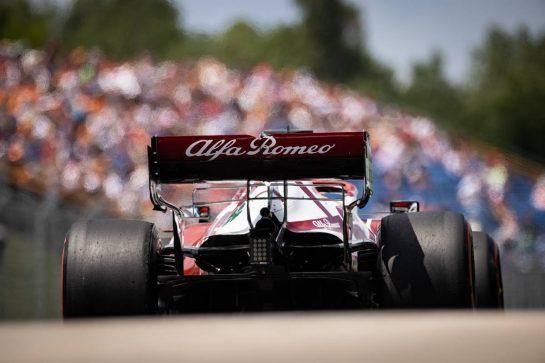 Kimi Raikkonen (FIN) Alfa Romeo Racing C41. 31.07.2021. Formula 1 World Championship, Rd 11, Hungarian Grand Prix, Budapest, Hungary, Qualifying Day. - www.xpbimages.com, EMail: requests@xpbimages.com © Copyright: Bearne / XPB Images