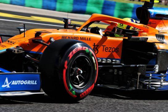 Lando Norris (GBR) McLaren MCL35M. 31.07.2021. Formula 1 World Championship, Rd 11, Hungarian Grand Prix, Budapest, Hungary, Qualifying Day. - www.xpbimages.com, EMail: requests@xpbimages.com © Copyright: Batchelor / XPB Images
