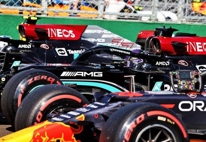 Pole sitter Lewis Hamilton (GBR) Mercedes AMG F1 W12 arrives in parc ferme. 31.07.2021. Formula 1 World Championship, Rd 11, Hungarian Grand Prix, Budapest