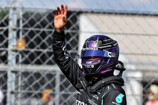 Lewis Hamilton (GBR) Mercedes AMG F1 celebrates his pole position in qualifying parc ferme. 31.07.2021. Formula 1 World Championship, Rd 11, Hungarian Grand Prix, Budapest, Hungary, Qualifying Day. - www.xpbimages.com, EMail: requests@xpbimages.com © Copyright: Batchelor / XPB Images
