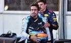 Fernando Alonso (ESP) Alpine F1 Team with Max Verstappen (NLD) Red Bull Racing in qualifying parc ferme. 05.06.2021. Formula 1 World Championship, Rd 6, Azerbaijan Grand Prix, Baku Street Circuit, Azerbaijan, Qualifying Day. - www.xp