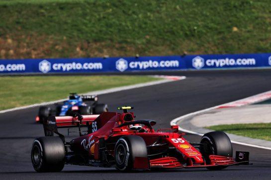 Carlos Sainz Jr (ESP) Ferrari SF-21. 01.08.2021. Formula 1 World Championship, Rd 11, Hungarian Grand Prix, Budapest, Hungary, Race Day. - www.xpbimages.com, EMail: requests@xpbimages.com © Copyright: Batchelor / XPB Images