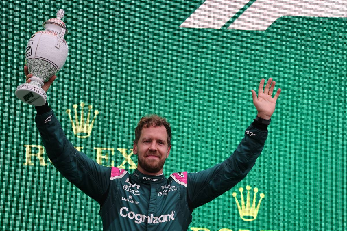2nd place Sebastian Vettel (GER) Aston Martin F1 Team AMR21. 01.08.2021. Formula 1 World Championship, Rd 11, Hungarian Grand Prix, Budapest