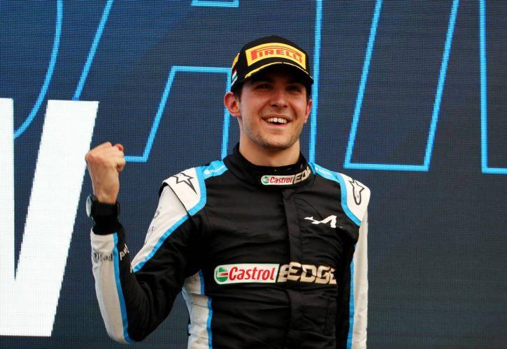 1st place Esteban Ocon (FRA) Alpine F1 Team A521. 01.08.2021. Formula 1 World Championship, Rd 11, Hungarian Grand Prix, Budapest
