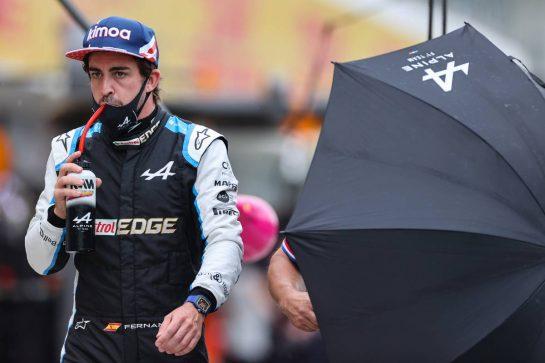 Fernando Alonso (ESP) Alpine F1 Team. 01.08.2021. Formula 1 World Championship, Rd 11, Hungarian Grand Prix, Budapest, Hungary, Race Day. - www.xpbimages.com, EMail: requests@xpbimages.com © Copyright: Charniaux / XPB Images