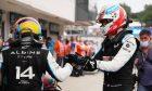 Race winner Esteban Ocon (FRA) Alpine F1 Team celebrates with team mate Fernando Alonso (ESP) Alpine F1 Team in parc ferme. 01.08.2021. Formula 1 World Championship, Rd 11, Hungarian Grand Prix, Budapest