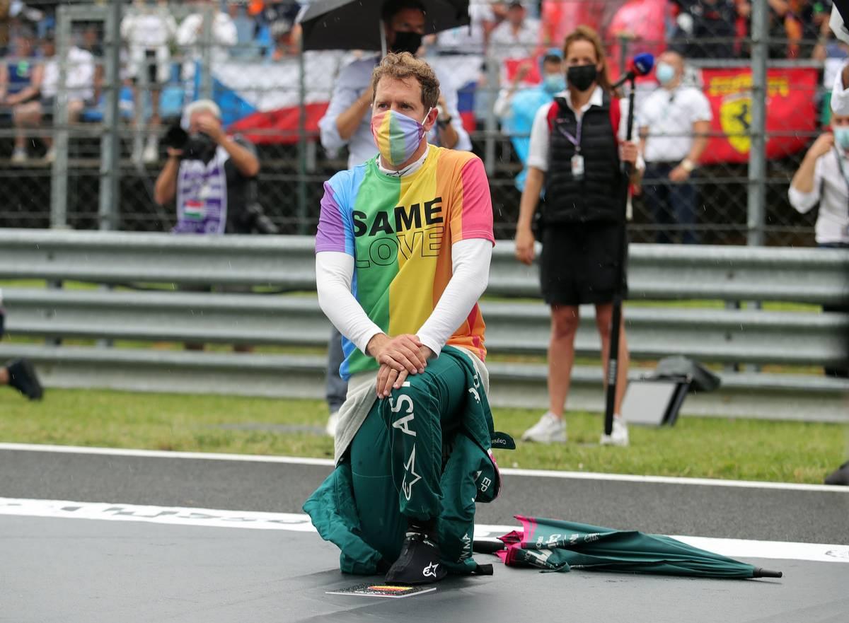 Sebastian Vettel (GER) Aston Martin F1 Team on the grid. 01.08.2021. Formula 1 World Championship, Rd 11, Hungarian Grand Prix, Budapest