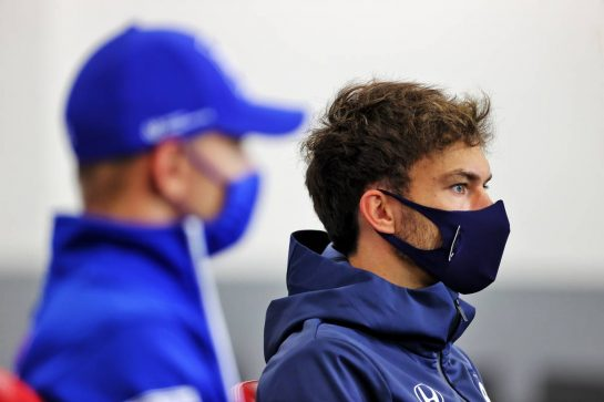 Pierre Gasly (FRA) AlphaTauri in the FIA Press Conference. 26.08.2021. Formula 1 World Championship, Rd 12, Belgian Grand Prix, Spa Francorchamps, Belgium, Preparation Day. - www.xpbimages.com, EMail: requests@xpbimages.com © Copyright: Charniaux / XPB Images