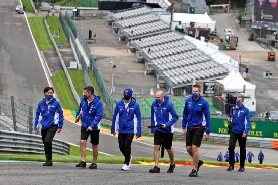Mick Schumacher (GER) Haas F1 Team walks the circuit with the team. 26.08.2021. Formula 1 World Championship, Rd 12, Belgian Grand Prix, Spa Francorchamps, Belgium, Preparation Day. - www.xpbimages.com, EMail: requests@xpbimages.com © Copyright: Moy / XPB Images