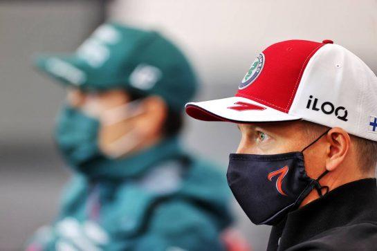 Kimi Raikkonen (FIN) Alfa Romeo Racing in the FIA Press Conference. 26.08.2021. Formula 1 World Championship, Rd 12, Belgian Grand Prix, Spa Francorchamps, Belgium, Preparation Day. - www.xpbimages.com, EMail: requests@xpbimages.com © Copyright: Charniaux / XPB Images