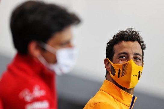 Daniel Ricciardo (AUS) McLaren in the FIA Press Conference. 26.08.2021. Formula 1 World Championship, Rd 12, Belgian Grand Prix, Spa Francorchamps, Belgium, Preparation Day. - www.xpbimages.com, EMail: requests@xpbimages.com © Copyright: Charniaux / XPB Images