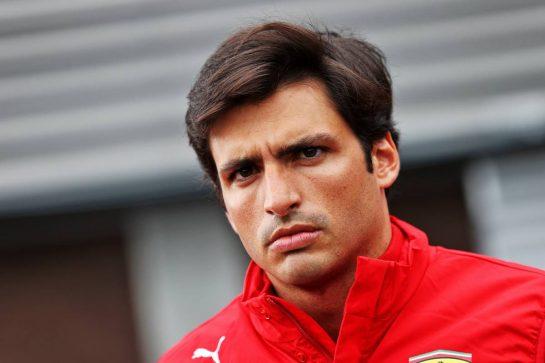 Carlos Sainz Jr (ESP) Ferrari. 26.08.2021. Formula 1 World Championship, Rd 12, Belgian Grand Prix, Spa Francorchamps, Belgium, Preparation Day. - www.xpbimages.com, EMail: requests@xpbimages.com © Copyright: Moy / XPB Images